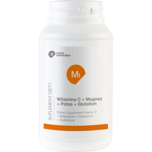 Witamina C + Magnez + Potas + Glutation, 450g