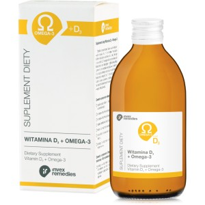 Witamina D3 + Omega-3, 300ml